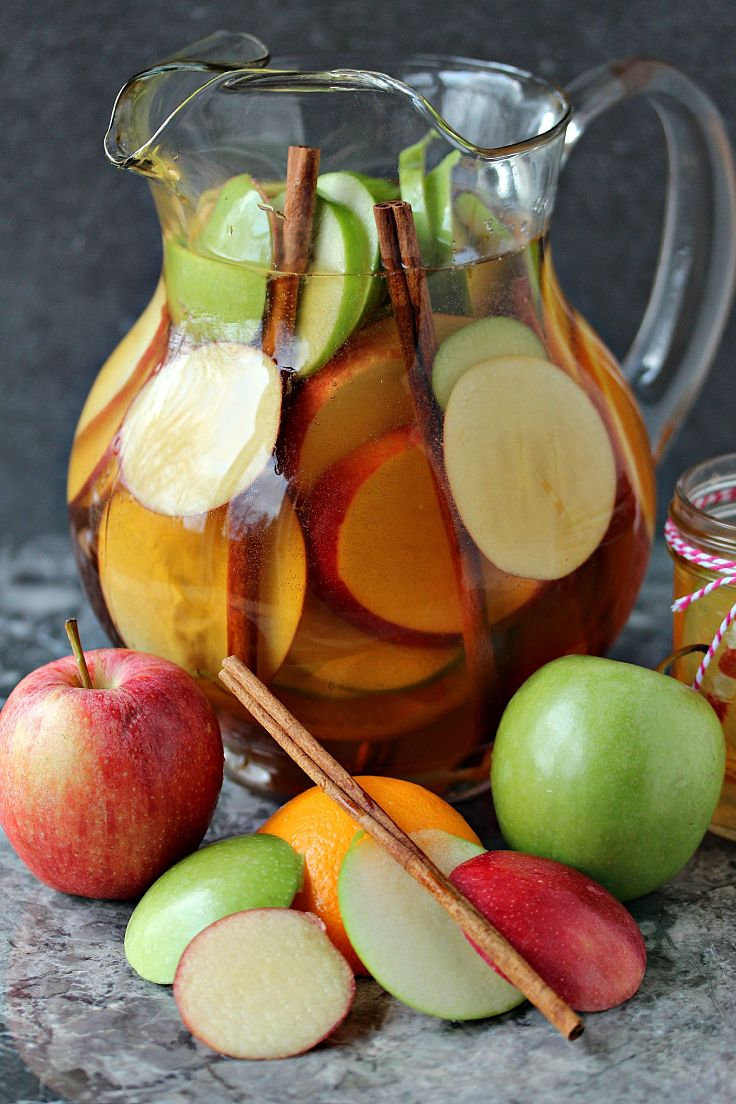 Easy Apple Sangria Recipe - wonderful way to showcase the delights of fresh fruit in season.