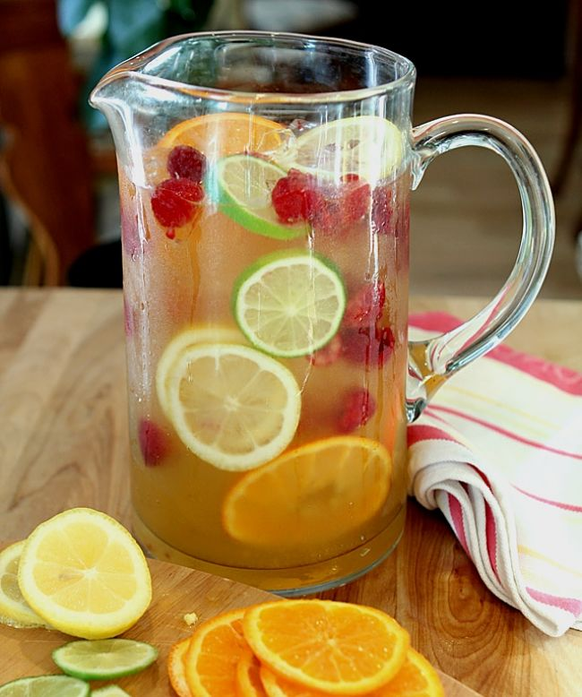 A lovely jug of sangria - homemade - just the way you like it.