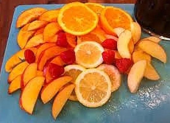 Fresh fruit is a key ingredient for Sangria - find the freshest and best fruit available.