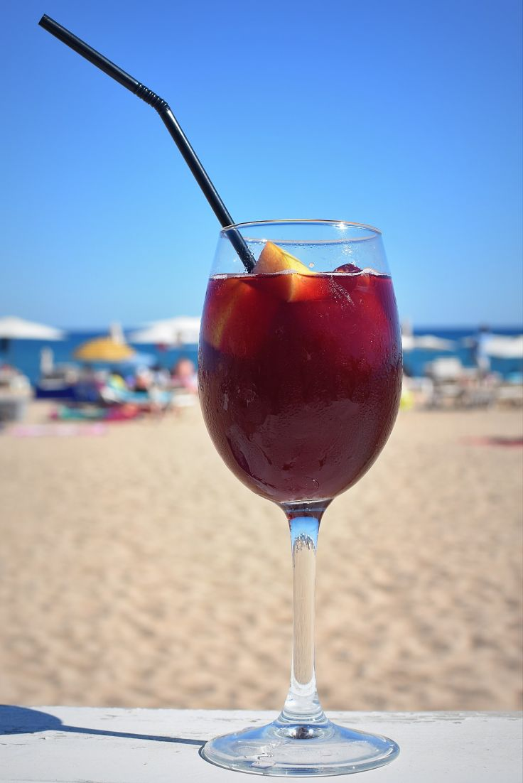 Homemade Sangria at the beach - What a wonderful way to quench your thirst.
