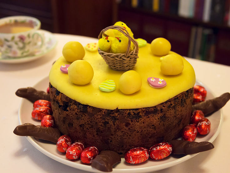 Simnel cakes are a delightful addition to a traditional Easter celebration.