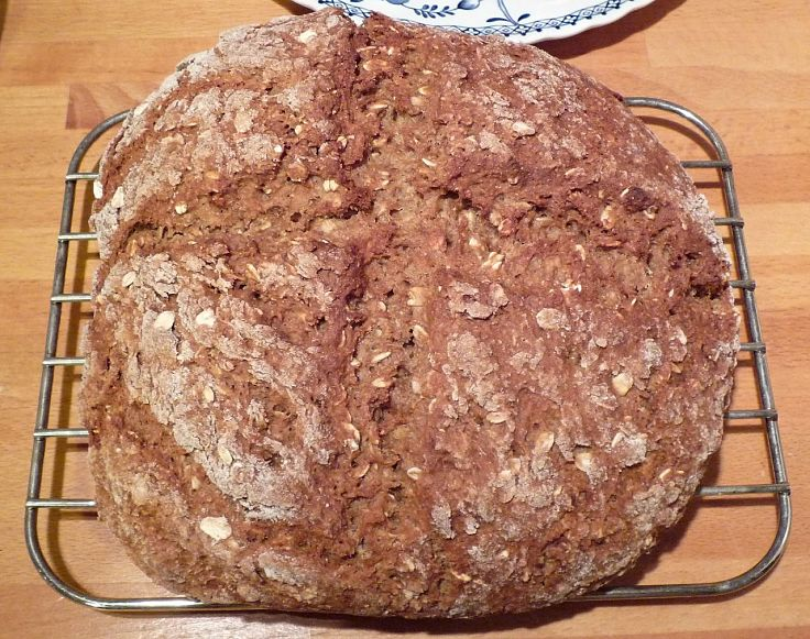 Soda breads made with wholemeal flour are heavy but taste nice and are better for you