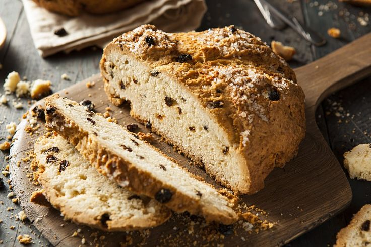 Irish Soda Bread with Raisins - see this and many more great recipes in this article