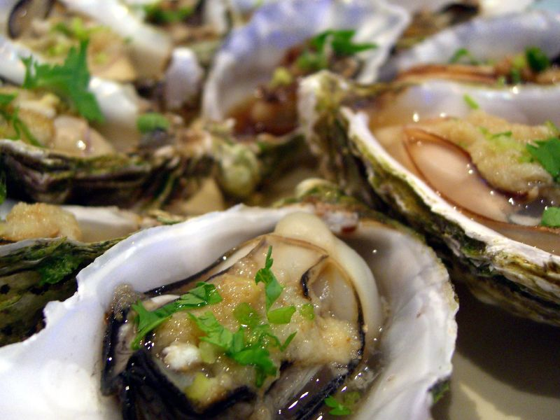 Steamed and grilled oysters is a nice way to enjoy them for those who don't like or want to eat them raw