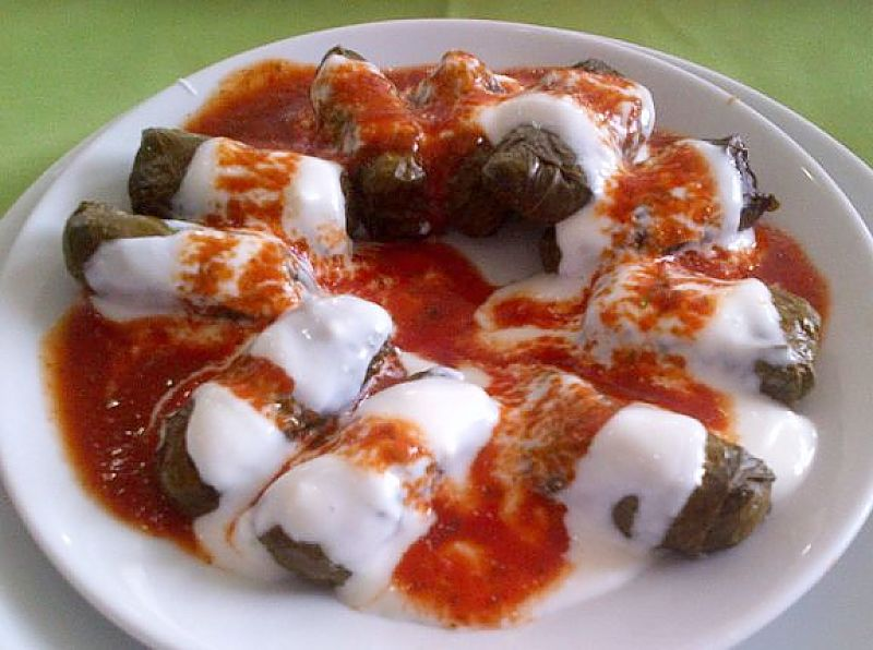 The sauce used for stuffed vine leaves add extra dimensions to the taste and texture.