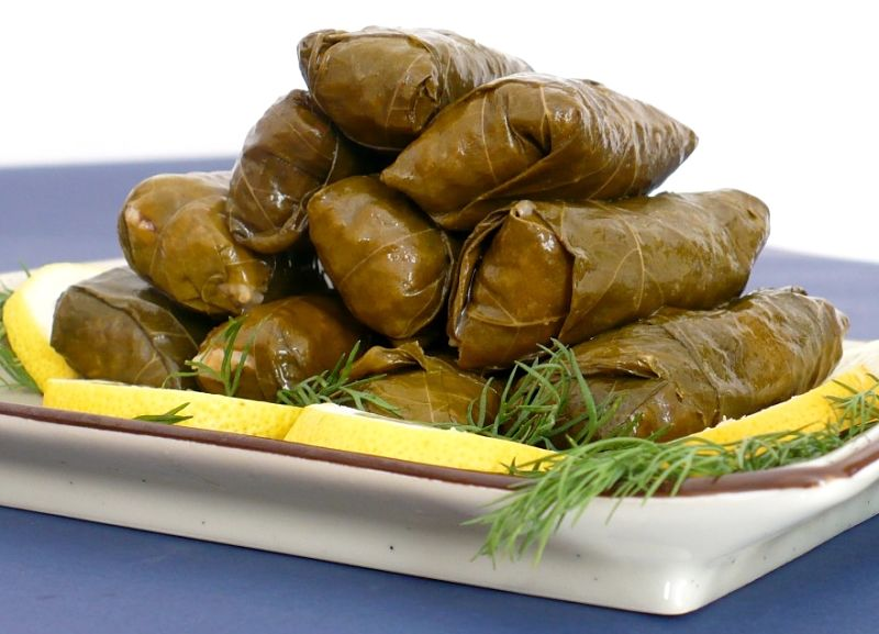 Greek dolmades are the classic version of stuffed vine leaves, but there are many other options. See the options here.