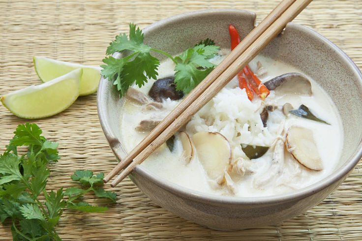 Beautiful Tom Kha Gai soup is a classic Thai dish you can make at home just the way you like it. See the recipes here