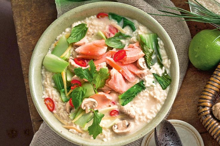 Salmon variation of the classic Thai Tom Kha Gai - see the recipe here