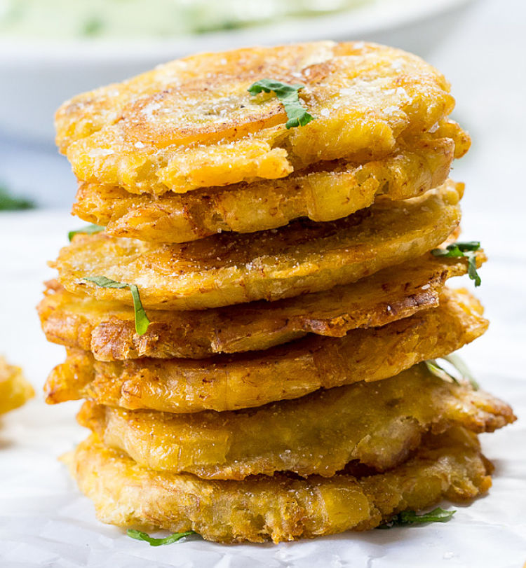 Tostones are delicious as an entree ir side dish for other meals