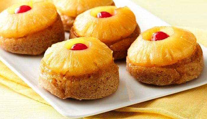 These pineapple and cherry upside down muffins are easy to make. Learn how here.