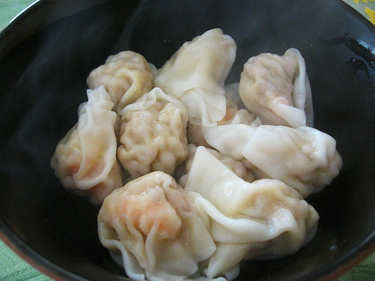 Wontons can be steamed or boiled before being added to a specially prepared broth. See the recipes here
