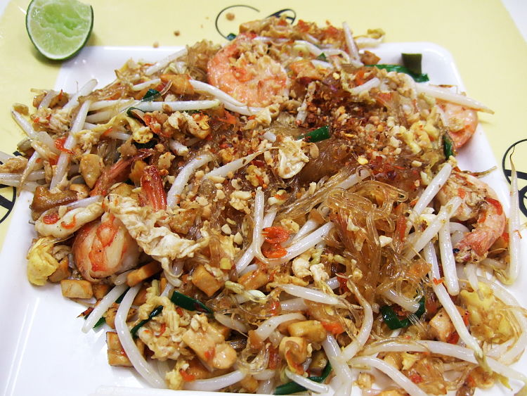 You can add variety to fried rice by replacing some or all of the rice with cellophane noodles