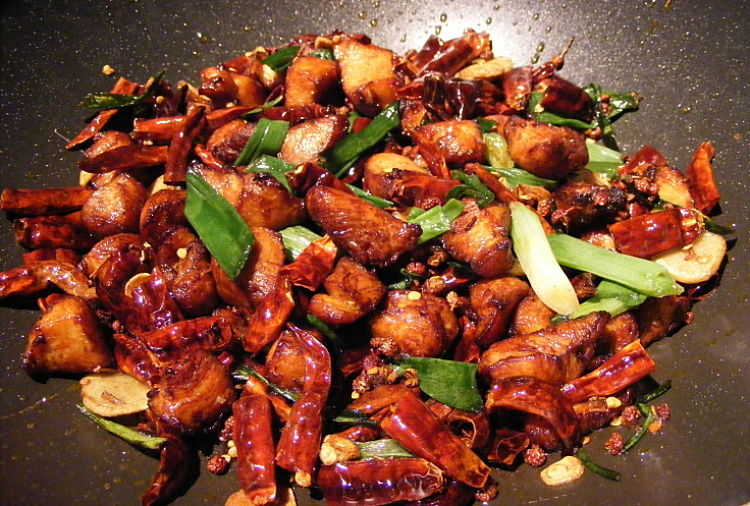 Small pieces of chicken marinated in yogurt and grilled or barbecued and then stir-fried with vegetables is an ideal appertizer or party food