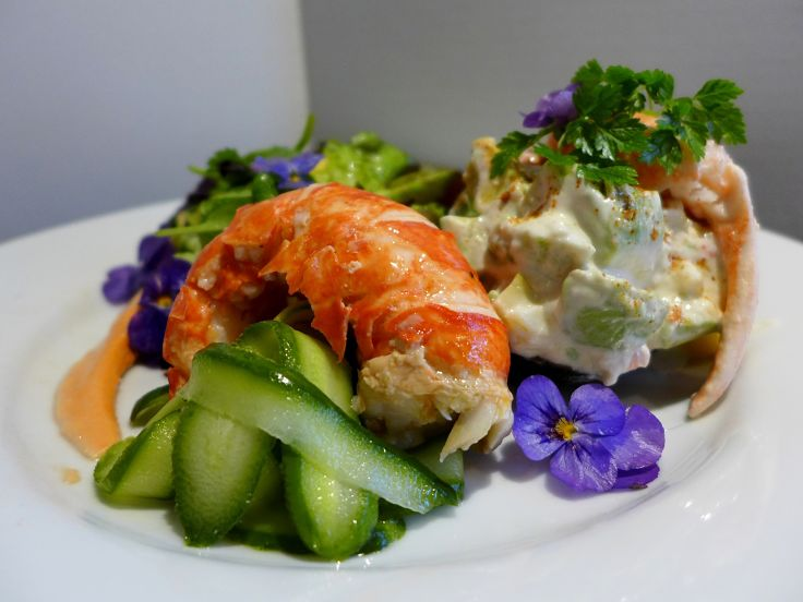 Lobster salad with delicious yuzu dressing